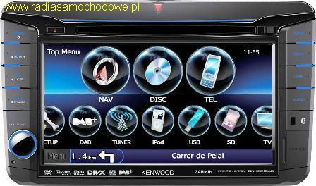 KENWOOD DNX521DAB (dla) VW Golf-6+inne +SEAT+SKODA