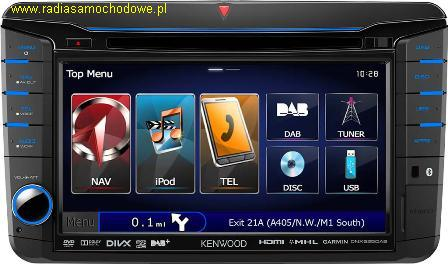 KENWOOD DNX525DAB for: VW Golf-6+inne +SEAT+SKODA
