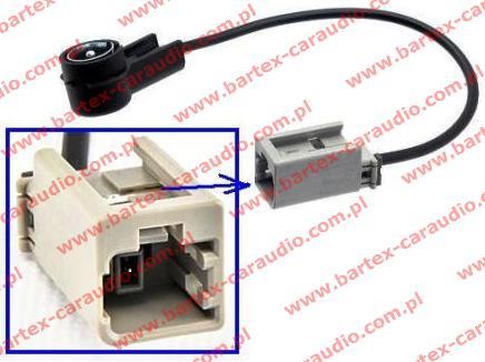 Kia PICANTO 2007-2011 +inne Przejściówka-złącze antenowe / ISO