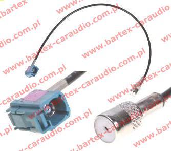 # Przejściówka antenowa ISO-gniazdo/1xFAKRA-gniazdo kątowe