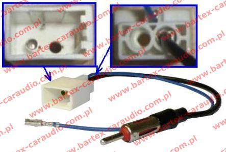 TOYOTA 2009-> różne modele Złącze antenowe DIN