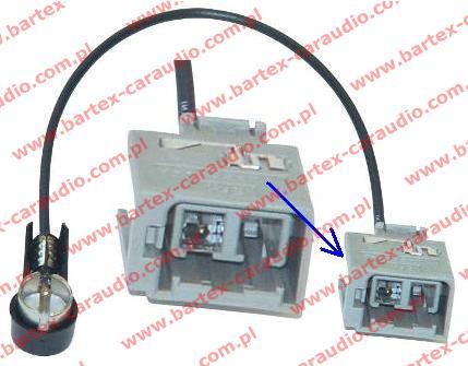 VOLVO 2000-> różne modele Złącze antenowe ISO
