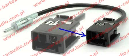 VOLVO 2000-> różne modele Złącze antenowe DIN