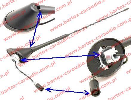Nowoczesna architektura ○ Anteny samochodowe, antena radiowa FM/AM /DAB, Antena na dach KJ61