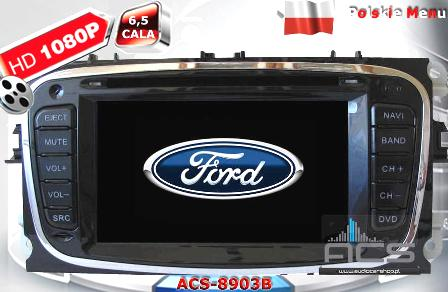 ACS Nawigacja do FORD Focus-2FL+Mondeo+S-Max+inne 2007-> BLACK