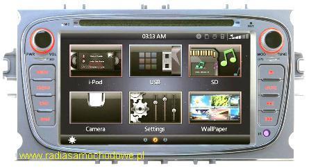 GMS Nawigacja do FORD Focus-2FL+S-Max+Mondeo+inne 2007-> SILVER
