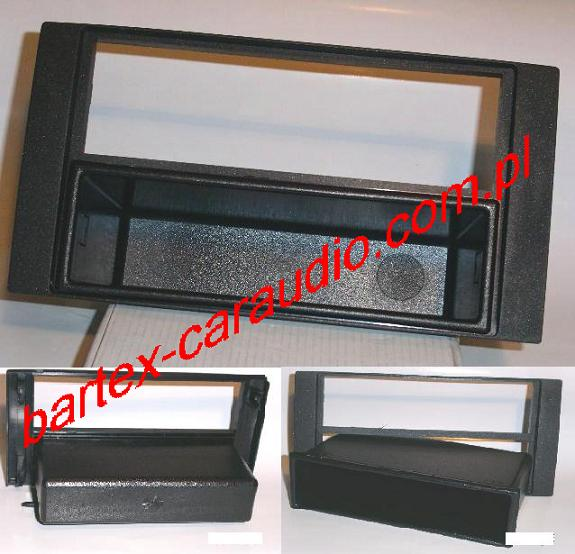 Ford C-Max 2004-2010 ramka CZARNA pod radio 1DIN +schowek