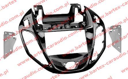 Ford B-Max 2012-> ramka CZARNA pod radio 2DIN
