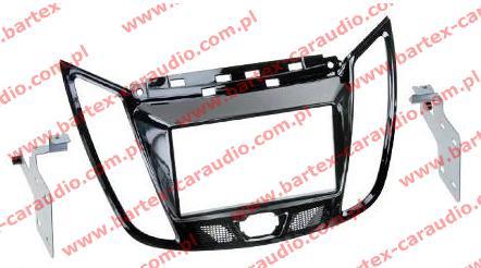 Ford C-Max 2011-> +Kuga 2013-> ramka CZARNA #1 pod radio 2DIN