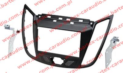 Ford C-Max 2011-> +Kuga 2013-> ramka CZARNA #2 pod radio 2DIN