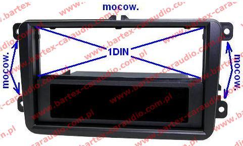 Seat ALHAMBRA 2010-> +inne Ramka pod radio 1DIN
