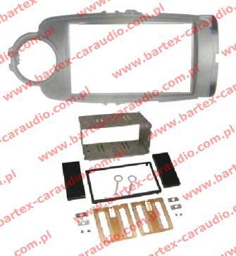 Toyota YARIS 2011-> ramka  SZARA +półkieszeń pod radio 2DIN
