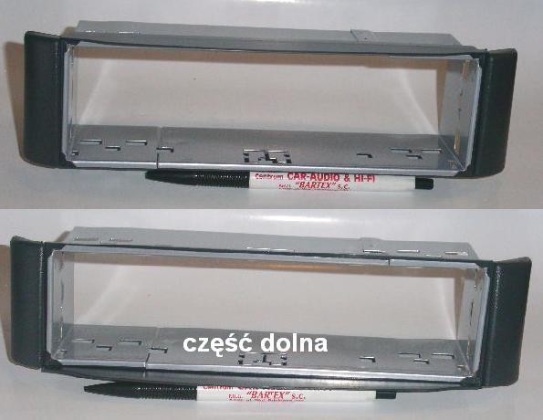 SMART Fortwo 1998-2007 CZARNA ramka+mocowanie radia 1DIN