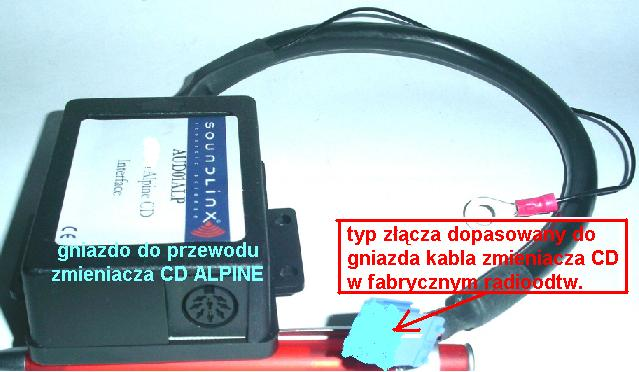 Adapter-moduł elektron. do zmieniarki CD ALPINE<->radio FORD-old