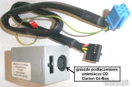 Adapter-moduł elektron. do zmieniarki CD Clarion<->radio Citr+Pe