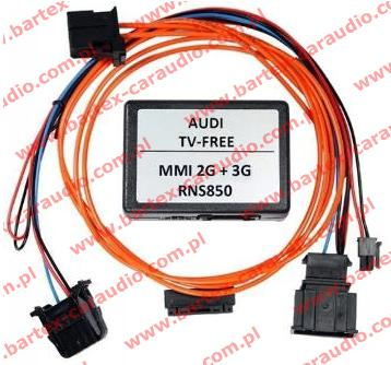 AUDI A7+A6+inne z MMi-3G+ interfejs TV-Free