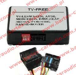 AUDI A4+A6+TT+inne z RNS-E interfejs TV-Free