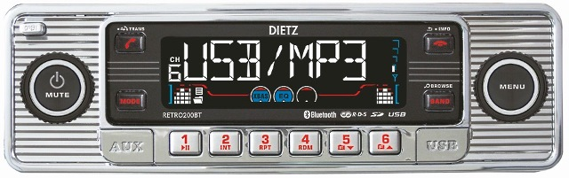 DIETZ CD-200BT RETRO-silver