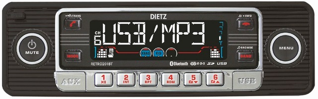 DIETZ CD-201BT RETRO-black