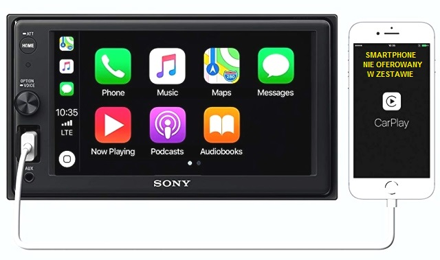 SONY XAV-AX1000 z CarPlay