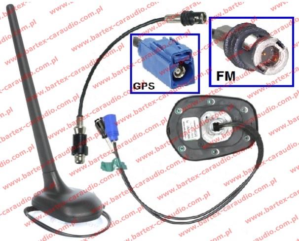 Antena na dach tył do AUDI 1994-2004 ze wzmacniaczem FM/AM+GPS