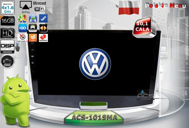 "ACS Nawigacja do Volkswagen Passat-B7 z ANDROID +LCD-10,1"""