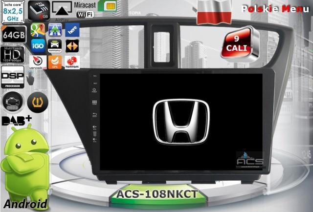 "ACS Nawigacja do Honda CIVIC 2012-2015 3/5drz. z ANDROID +9"""