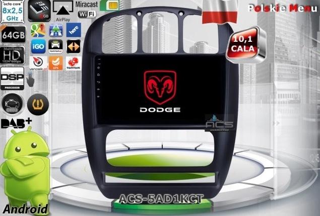 "ACS Nawigacja do DODGE Caravan 2001-2007 z ANDROID +LCD-10"""