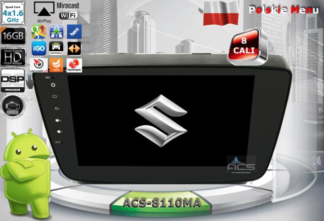 """ACS Nawigacja do SUZUKI Baleno 2016-> z ANDROID + LCD-8"""""""