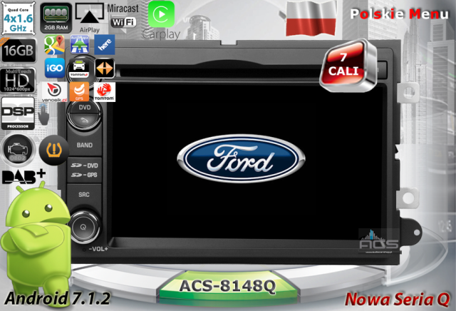 ACS Nawigacja do FORD Mustang 2005-2010 +inne z ANDROID
