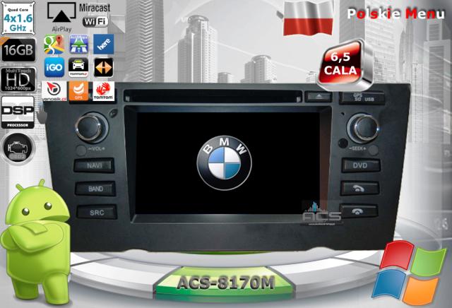 ACS Nawigacja do BMW-1 E81;E82;E87;E88 z ANDROID