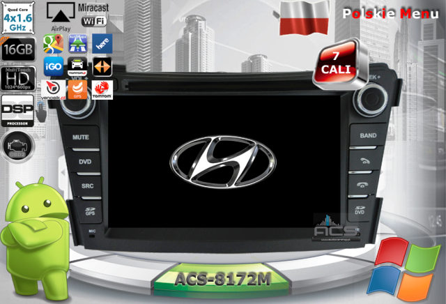 ACS Nawigacja do Hyundai i40 2011-> z ANDROID