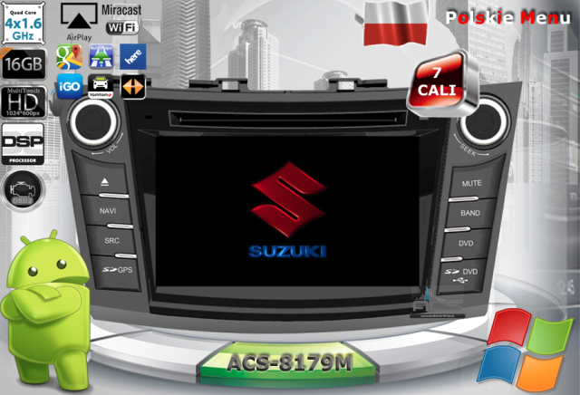 ACS Nawigacja do SUZUKI Swift 2010-> z ANDROID