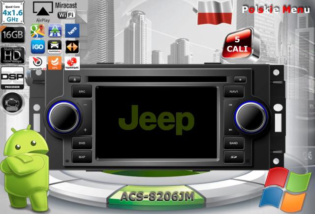 ACS Nawigacja do JEEP+Chrysler+DODGE 2004-2010 z ANDROID
