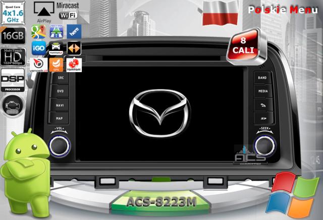 """ACS Nawigacja do Mazda CX-5 2012-> z ANDROID  +LCD-8"""""""