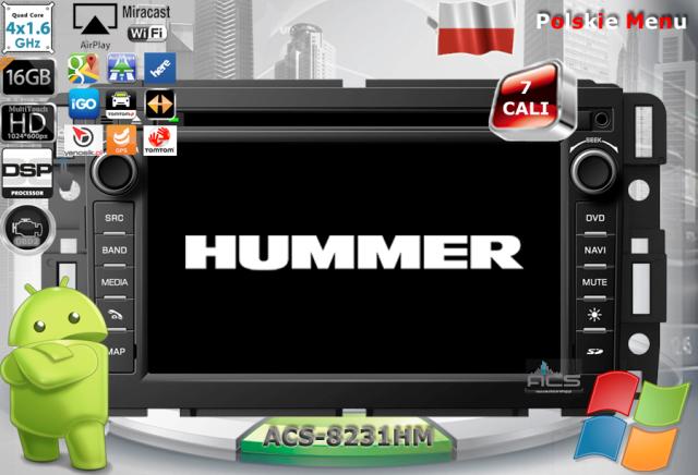 ACS Nawigacja do HUMMER H2 2008-> +inne Gen.Mot.USA z ANDROID