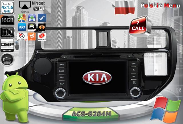 ACS Nawigacja do Kia PRIDE + RIO 2011-> z ANDROID