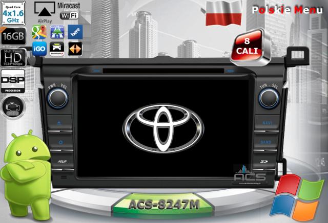 ACS Nawigacja do Toyota RAV4 2013-> z ANDROID