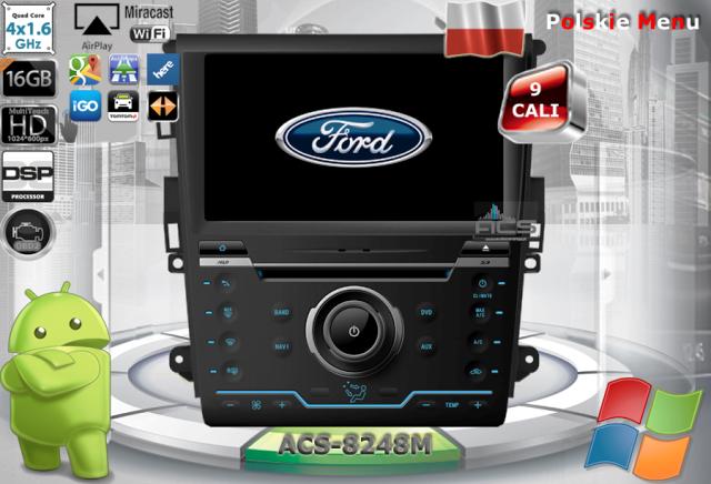ACS Nawigacja do FORD Mondeo MkV 2014-> + Fusion-USA z CLIMATRON