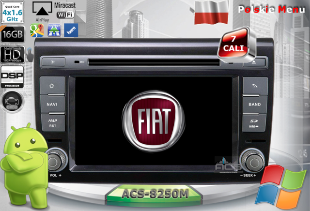 ACS Nawigacja do Fiat BRAVO 2007-> z ANDROID