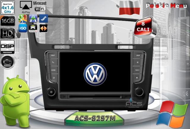 ACS Nawigacja do Volkswagen Golf-7 2012-> z ANDROID