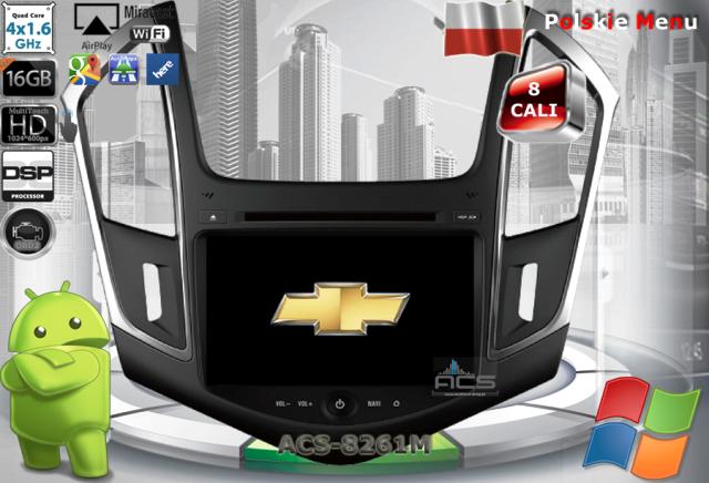 ACS Nawigacja do Chevrolet CRUZE 2013-> z ANDROID