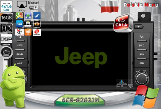 ACS Nawigacja do JEEP+Chrysler+DODGE 2011-> z ANDROID
