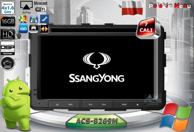 ACS Nawigacja do SsangYong REXTON 2013-> z ANDROID