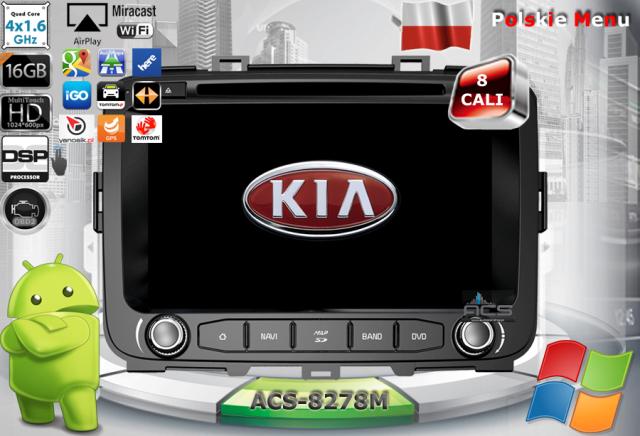 ACS Nawigacja do Kia CARENS 2013-> z ANDROID
