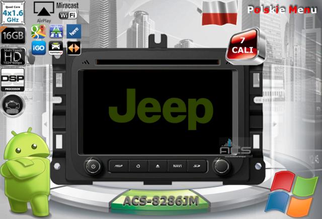 ACS Nawigacja do JEEP+Chrysler+DODGE 2014-> z ANDROID