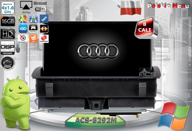 ACS Nawigacja do AUDI Q3 2012-> +A1 2010-> z ANDROID