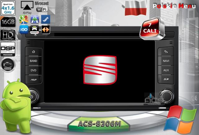 ACS Nawigacja do SEAT Leon-3 2012-> z ANDROID