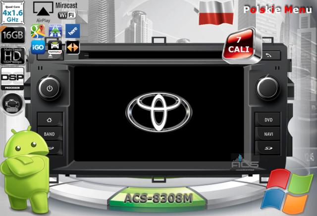 ACS Nawigacja do Toyota AURIS 2013-> z ANDROID
