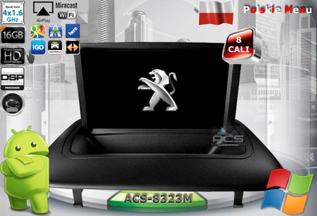 ACS Nawigacja do Peugeot 3008 +inne z ANDROID